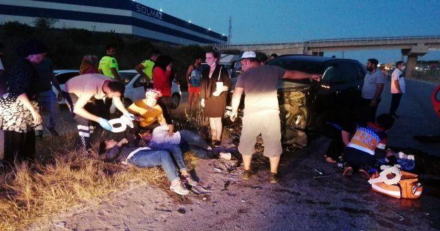 Ters yöne giren 2 araç ortalığı savaş alanına çevirdi: 7 yaralı