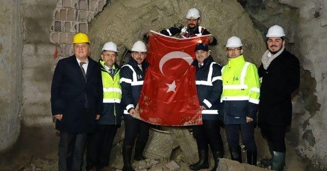 Zeytinburnu-Bahçelievler içme suyu tüneli pandemiye rağmen gününde tamamlandı