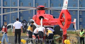 Ambulans helikopterler, ameliyat olacak çocuk için seferber oldu