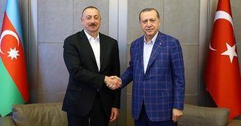 Azerbaycan Cumhurbaşkanı Aliyev'den Cumhurbaşkanı Erdoğan'a teşekkür