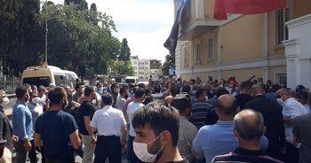 Bakırköy'de pazarcı esnafı eylem yaptı
