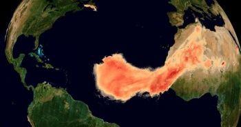 Devasa toz bulutu uzaydan görüntülendi