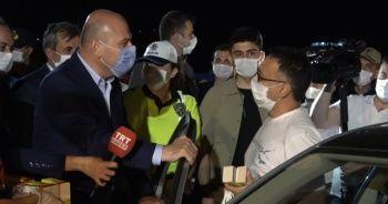 İçişleri Bakanı Süleyman Soylu havadan trafik denetimine katıldı