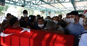 Kaza kurşunuyla ölen Astsubay Güven göz yaşları arasında toprağa verildi