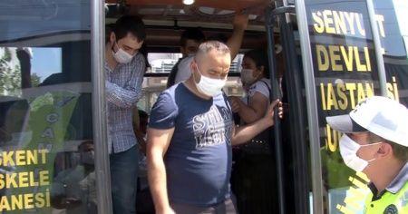 12 kişilik minibüsten 30 yolcu çıktı