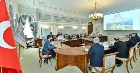 Ayasofya Camisi'nin açılış hazırlıkları için toplantı yapıldı