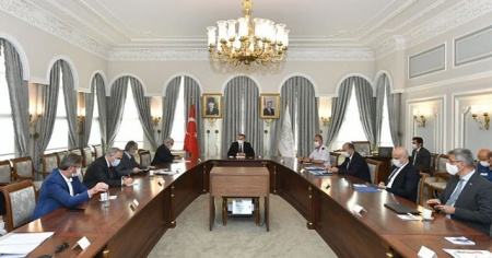 Ayasofya Camisi'nin ibadete açılmasıyla ilgili çalışmaları değerlendirme toplantısı
