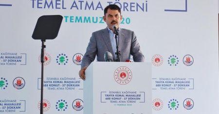 Bakan Kurum: 'Hedefimiz 2021 yılında İstanbul'da 100 bin konutu dönüştürmek'
