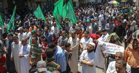 Binlerce kişi Gazze'de 'ilhak' planını protesto etti