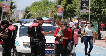 Bolu'da, maske takmayan 458 kişiye 412 bin lira para cezası
