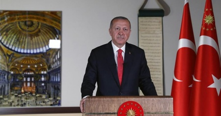 Cumhurbaşkanı Erdoğan: 24 Temmuz Cuma günü Ayasofya'yı ibadete açmayı planlıyoruz