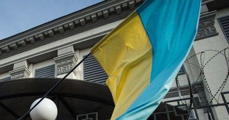 Ermeniler Azerbaycan'a destek veren Ukrayna'nın Büyükelçiliği'ne saldırdı