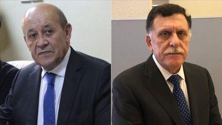 Fransa Dışişleri Bakanı Jean-Yves Le Drian, Libya Başbakanı Fayiz es-Serrac'la görüştü