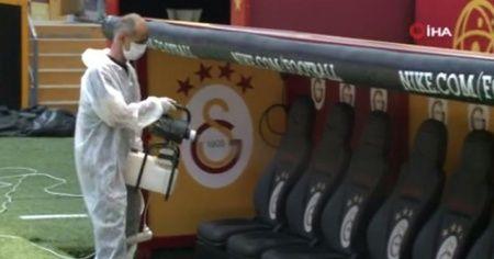Galatasaray'da dezenfekte işlemleri tamamlandı