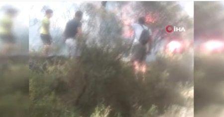 Heybeliada'da yangına ilk müdahaleyi vatandaşlar yaptı