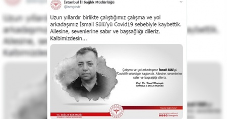 İstanbul İl Sağlık Müdürlüğü'nün Covid-19 kaybı