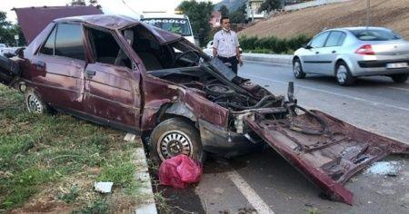 Kazadan ağır yaralı kurtulan sürücü hayatını kaybetti