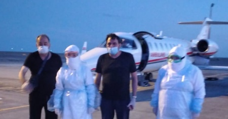 Kazakistan'da Covid-19'a yakalanan Türk vatandaşı Türkiye'ye getirildi