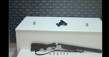 Kırıkkale'de bir adreste ruhsatsız silah ele geçirildi