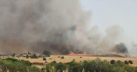KKTC'deki yangına Mehmetçik desteği