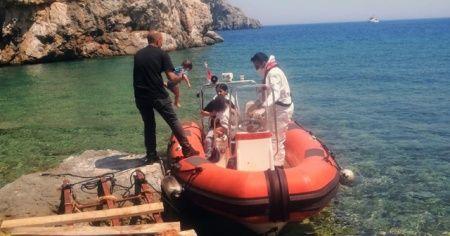Koya bırakılan 8 düzensiz göçmenden 1'i hayatını kaybetti
