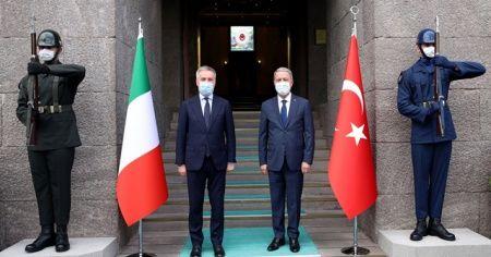 Milli Savunma Bakanı Akar, İtalya mevkidaşı ile bir araya geldi