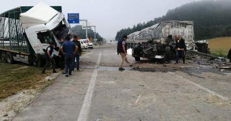 Nallıhan Mudurnu yolunda kaza: 7 yaralı
