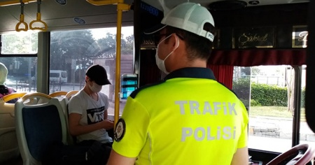 Toplu taşıma araçlarında korona virüs denetimi