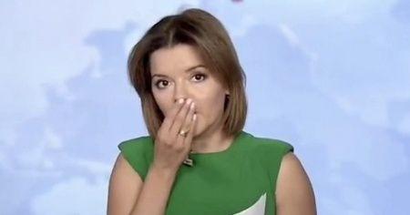 Ukraynalı spikerin canlı yayın kazası güldürdü