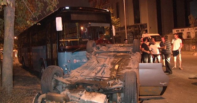 Ataşehir'de feci kaza, yaralananlar var