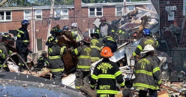 ABD2nin Baltimore kentinde doğal gaz patlaması: 1 ölü