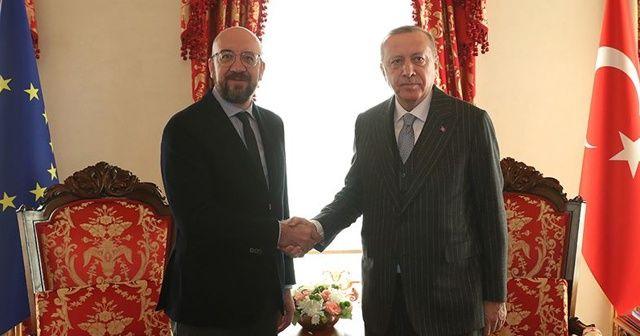 Cumhurbaşkanı Erdoğan AB Konseyi Başkanı Michel ile görüştü