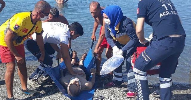Denizde fenalaşan kişi kurtarılamadı