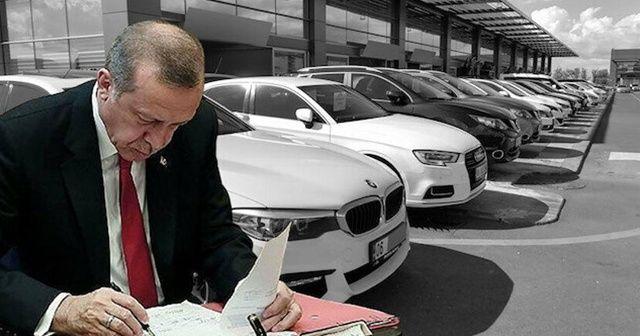 İkinci el araç düzenlemesi Cumhurbaşkanı Erdoğan'ın önünde: 5 bin TL ceza kesilecek