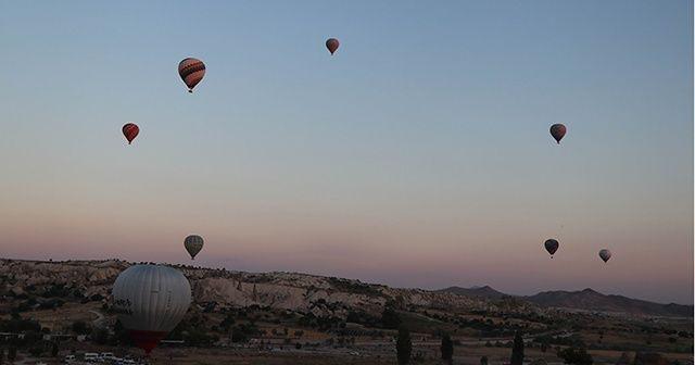 Kapadokya'nın 5 aylık balon hasreti sona erdi
