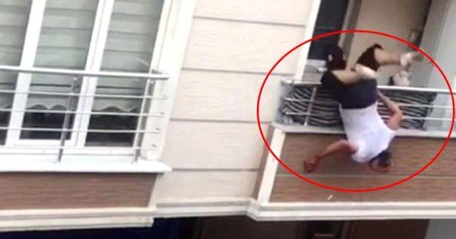 Kavga ettiği adama tencere atarken balkondan düştü