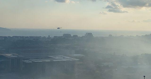 Maltepe'de askeri alanda çıkan yangın kontrol altına alındı