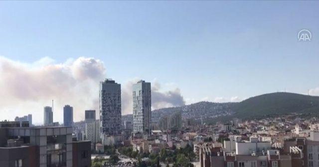 Maltepe'de askeri alanda yangın!