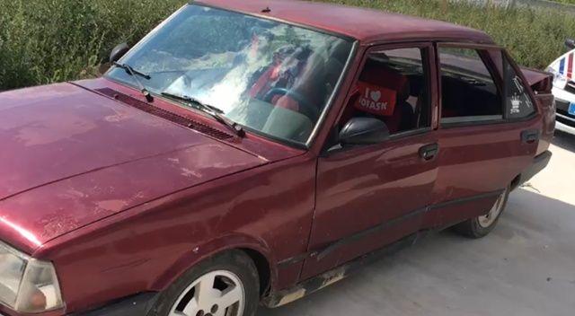 Meradan çalınan buzağı otomobilin bagajından çıktı