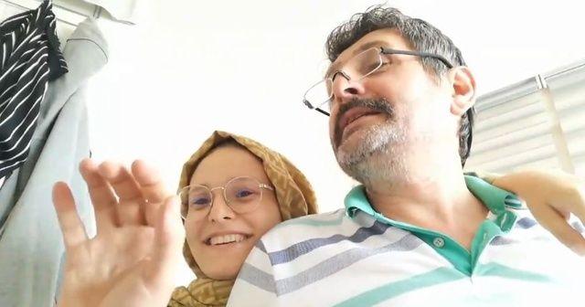 YKS sonucunu aynı anda öğrenen baba ve kızının sevinci duygulandırdı