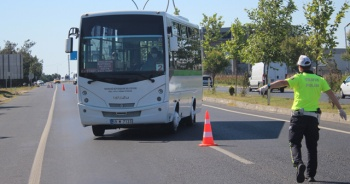 Araçlarda 'korona virüs' denetimi yapıldı