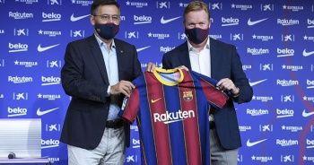Barcelona Ronald Koeman'ı tanıttı