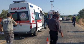 Belediyeye ait araç kaza yaptı 4 kişi yaralandı