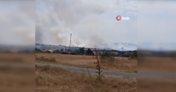 Bulgaristan-Türkiye sınırında orman yangını