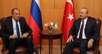 Çavuşoğlu, Lavrov ile Libya ve Suriye'yi görüştü