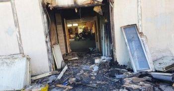 Fransa'da camide yangın