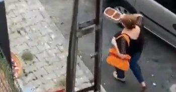 Kadınların mama kavgası kamerada