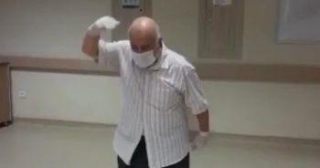 Koronayı yenen yaşlı hasta harmandalı oynayarak taburcu oldu