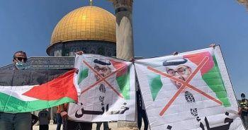 Mescid-i Aksa'da İsrail-BAE anlaşması protesto edildi