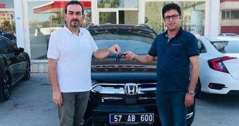 Sinop Türkeli Belediyesi Honda CR-V Hybrid'i filosuna ekledi